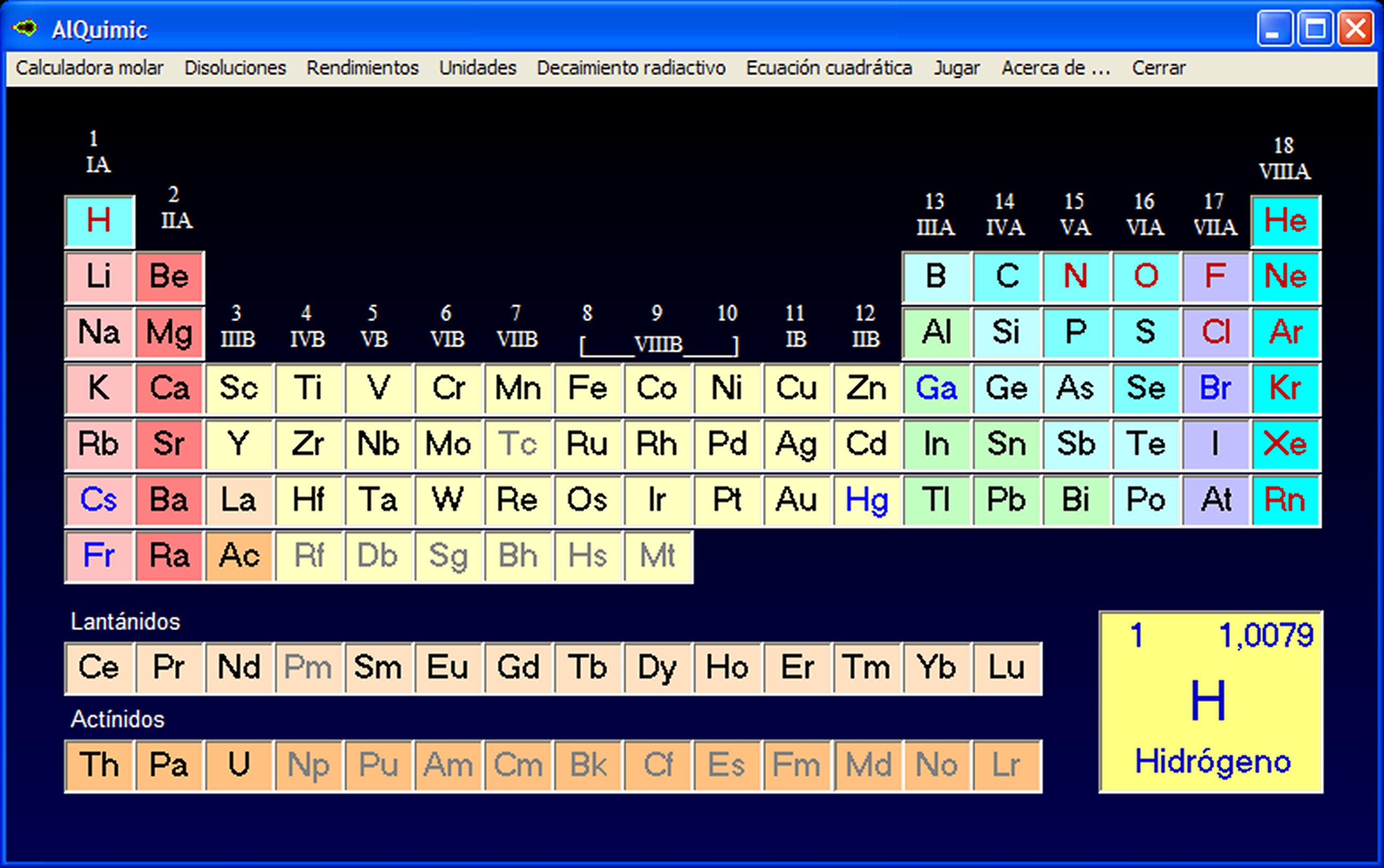 Tabla peridica con varias utilidades tabla peridica para aprender jugando con mltiples utilidades urtaz Choice Image